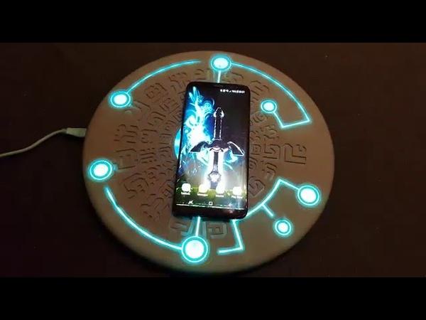 Sheikah Runes Wireless Charger Sound Effect Distilling Runes