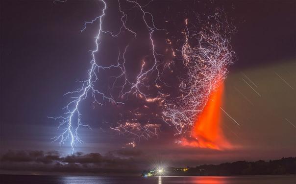 Извержение вулкана Кальбуко (Чили)