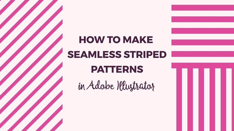 How to make seamless striped patterns in Illustrator