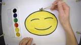 Как нарисовать СМАЙЛИК Улыбку ЭМОДЖИ Раскрасить в Желтый цвет
