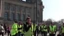 Freiheitskämpfer der #Gelbwesten Deutschland am Set in Berlin Reichstag 23.03.2019