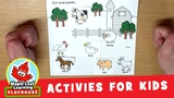Farm Animal Activity for Kids Maple Leaf Learning Playhouse