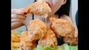 Ăn gà Rán chấm nước sốt ngon tuyệt cú mèo - Eating sound Chiken with French fries ASRM