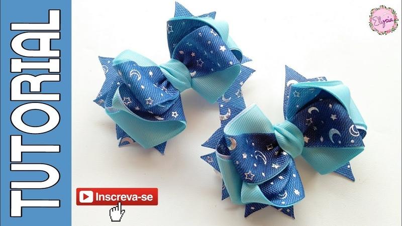 Laço Andrea Fita N5 🎀 Ribbon Bow 🎀 DIY by Elysia Handmade