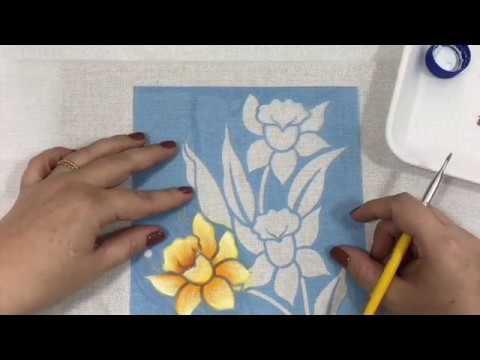 Pintura em tecido com stencil para iniciantes