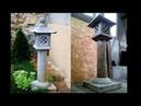 Making an asian Yunoki concrete lantern