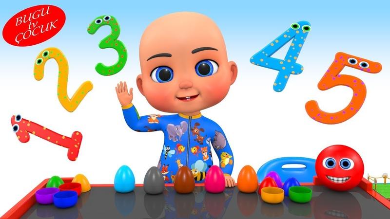 Bugu Bebek Sürpriz Yumurtaları Açıyor - Çocuklar İçin Sayıları Öğreniyorum