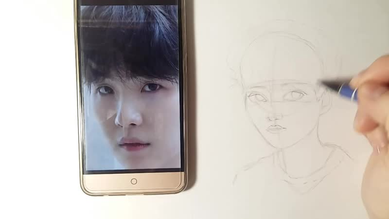 ✏Как нарисовать Юнги из BTS🍪 _를 그리는 법 민윤기 _ How to draw Yoon Gi from BTS