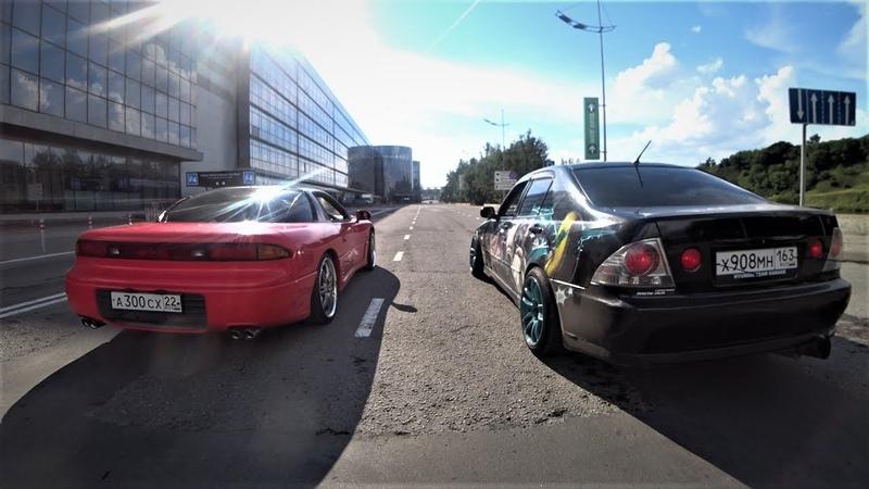 Toyota Altezza VS MMC GTO ГОНКА