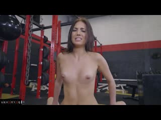 Aubrey rose & jmac [ sperm &  brunettes / fitness and training , shaved , trainer ,  , cum on face , pussy]