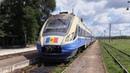 Дизель-поезд Д1М-005 на ст. Пырлица / D1M-005 DMU at Pirlita station