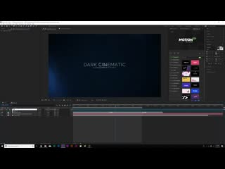 Create Dark Cinematic Title Motion Graphics After Effects Tutorial