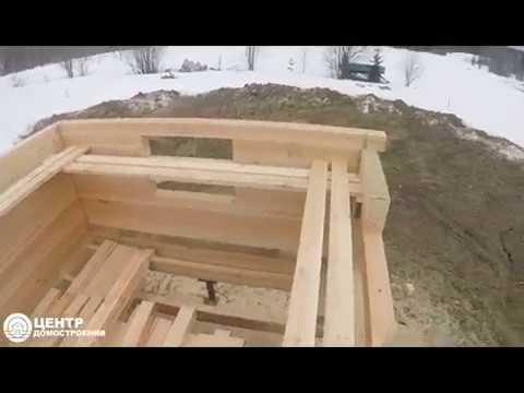 Дом из бруса с мансардой. Этап строительства. д. Вездино