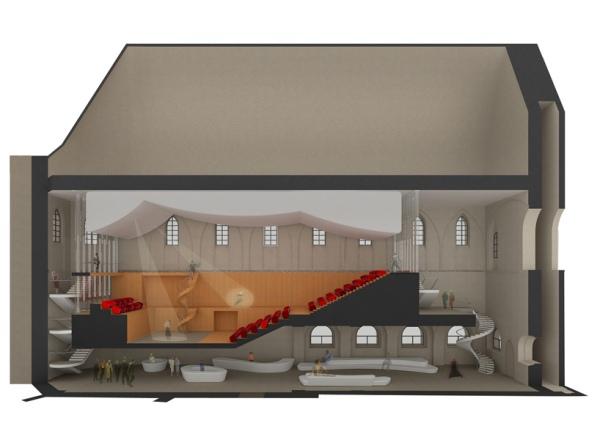 Проект театра Angel's dance от португальской архитектурной студии Silva   roth architects.