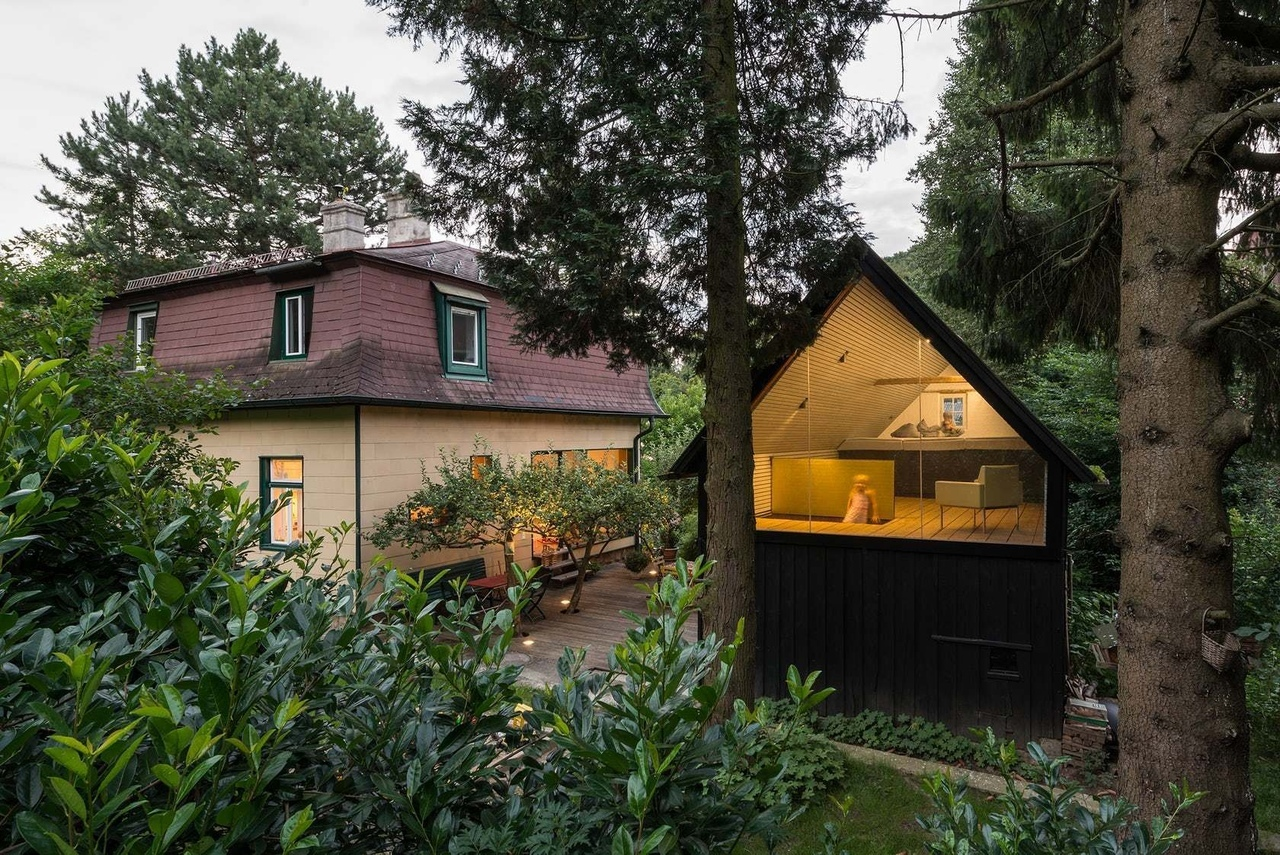 Садовые домики, сочетающие в себе архитектуру и природу.