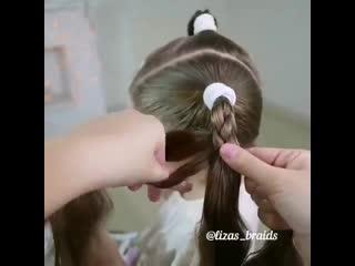 Необычное плетение косы
