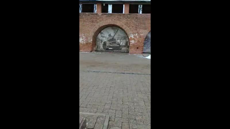 Танк из фотографий в Нижегородском Кремле ....mp4