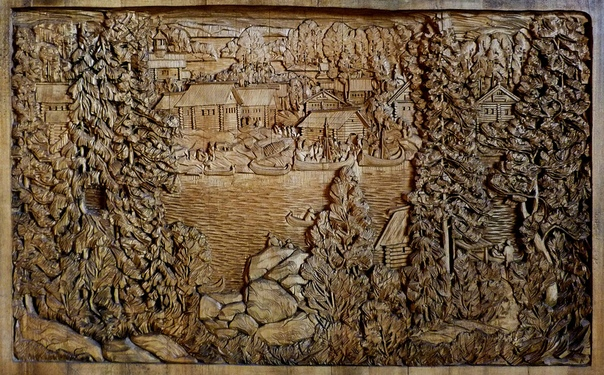 Деревянные «полотна» Кронида Гоголева