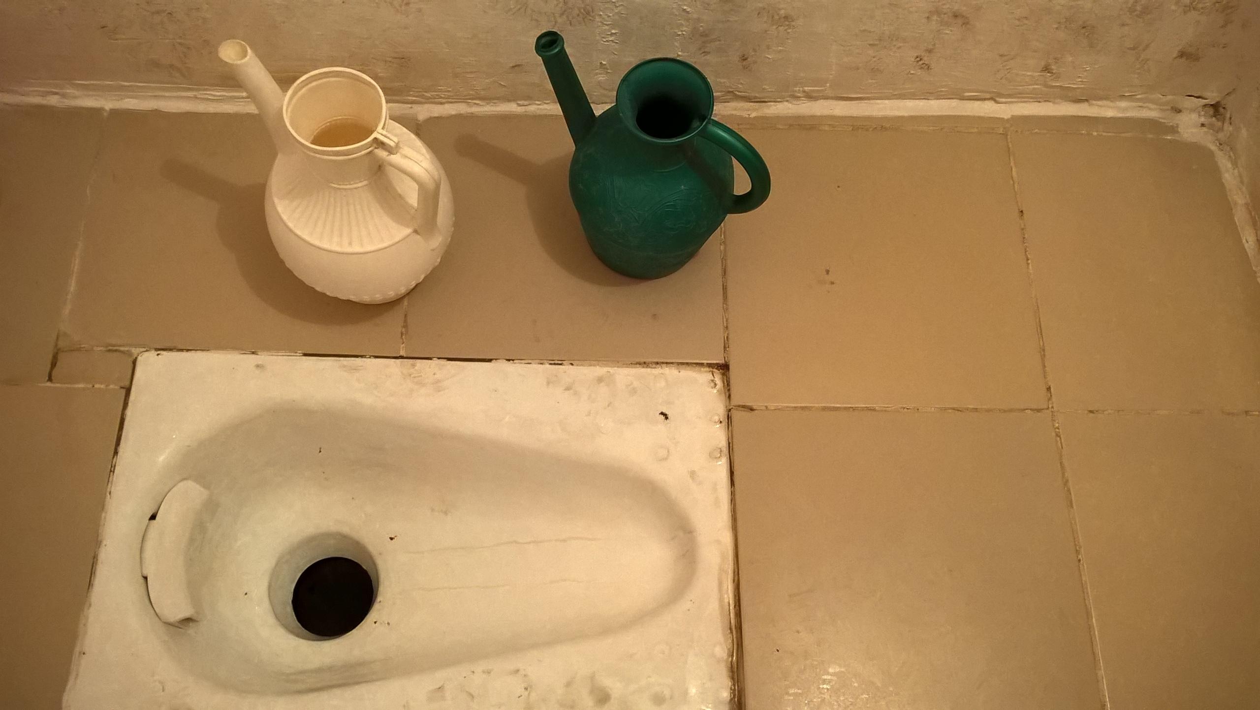 Типичный туалет в мусульманском доме
