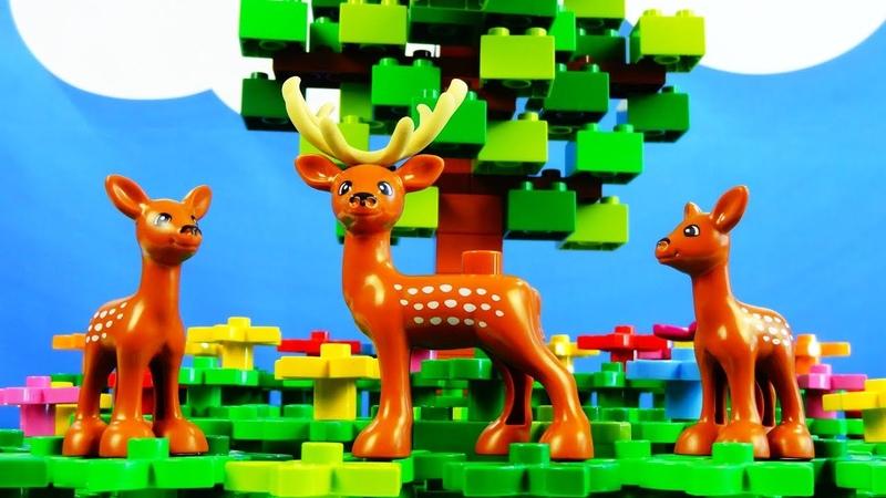 Lego Duplo The Seasons spring, summer, autumn, winter. Лего Дупло Времена года. Строим из Lego Duplo