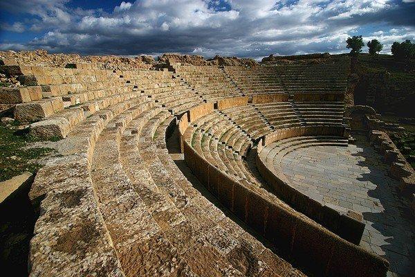 Руины Тимгада, древнего города в Алжире
