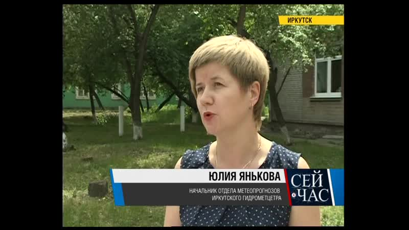 Грозы и ливень прогнозируют в Иркутской области