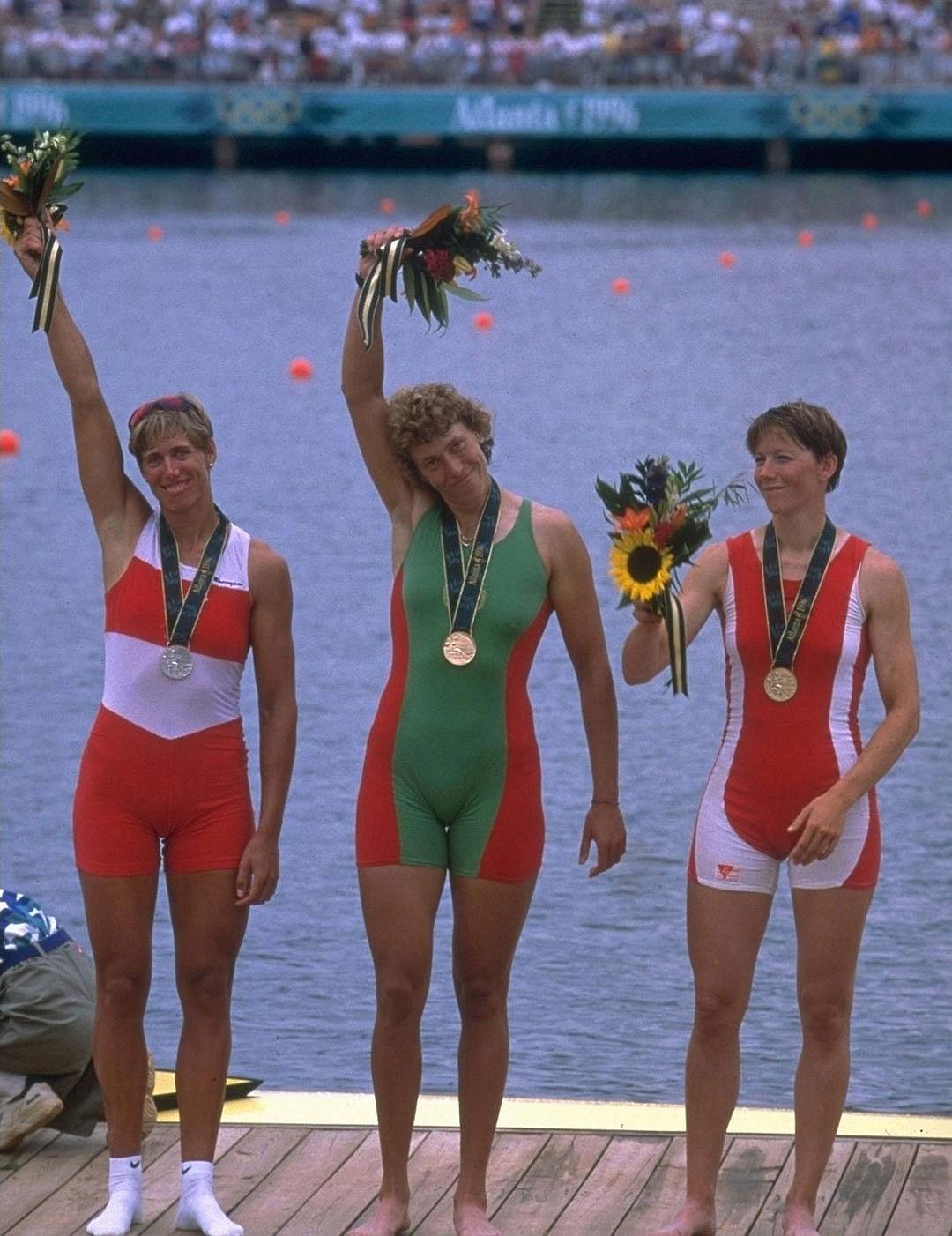 В Атланте Екатерина выиграла первую золотую олимпийскую медали: и для себя, и для Беларуси. Фото: Allsport