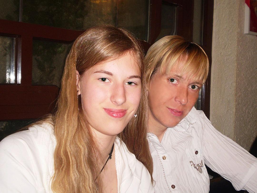 Екатерина Карстен с дочкой Александрой. Фото: личный архив