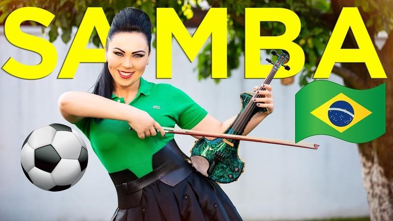 Samba Do Brasil 🇧🇷⚽️Electric Violin Cristina Kiseleff (Cover Bellini) FIFA World Cup