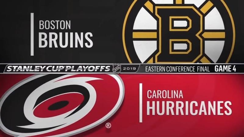 Boston Bruins vs Carolina Hurricanes | May.16, 2019 NHL | Game 4 | Stanley Cup 2019 | Обзор матча