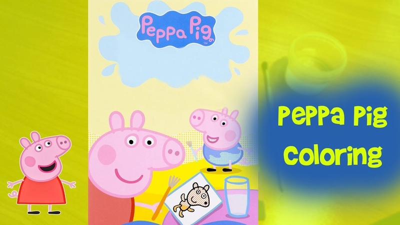 Peppa Pig And George Pigs Playing Together | Coloring Pages Book Videos For Kids