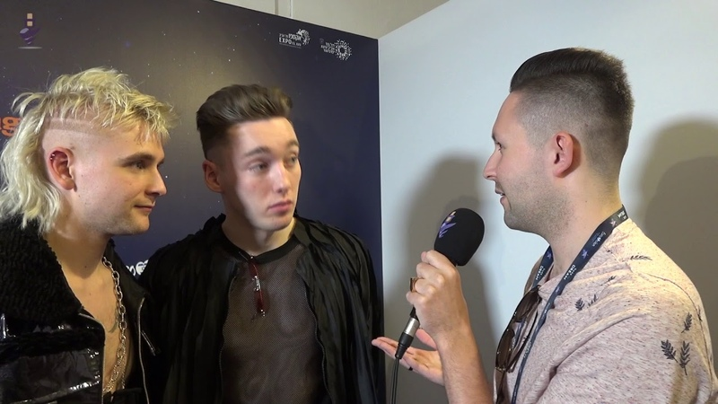 Eurovision 2019 - Iceland - Interview Hatari after first rehearsal