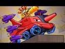 1-7 Проба Танкоминатора и ДВЕ АРЕНЫ с Битли - мультик про красную машинку и Хищные машины
