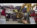 Презентация нового шагающего экскаватора Menzi Muck M545 Generation X на выставке BAUMA 2019