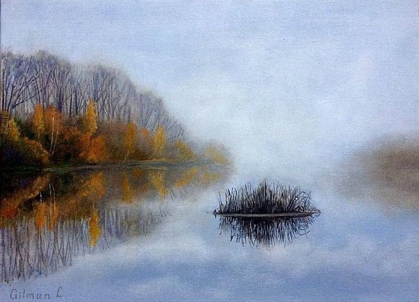Осенне-зимние пейзажи Любовь Гильман.