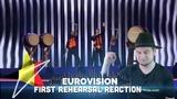Eliot - Wake Up - First Rehearsal (Belgium Реакция Евровидение 2019)