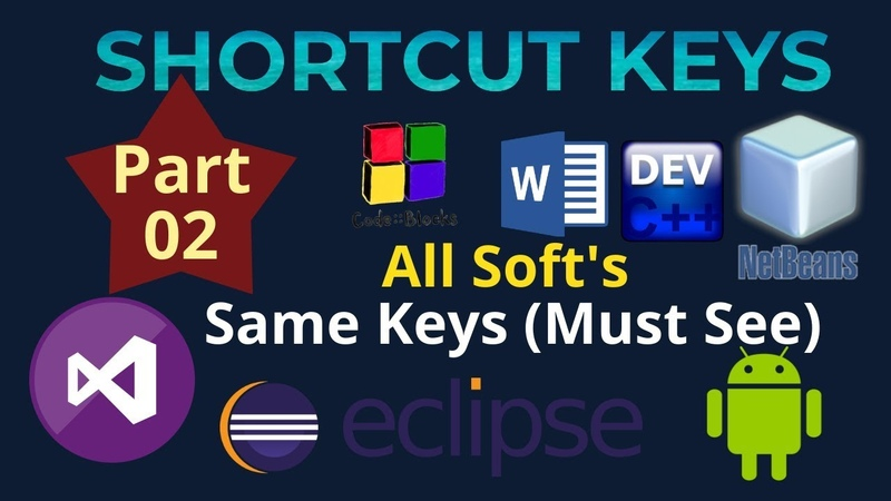 Shortcut Keys for all Software: (Text Selection) | 2019