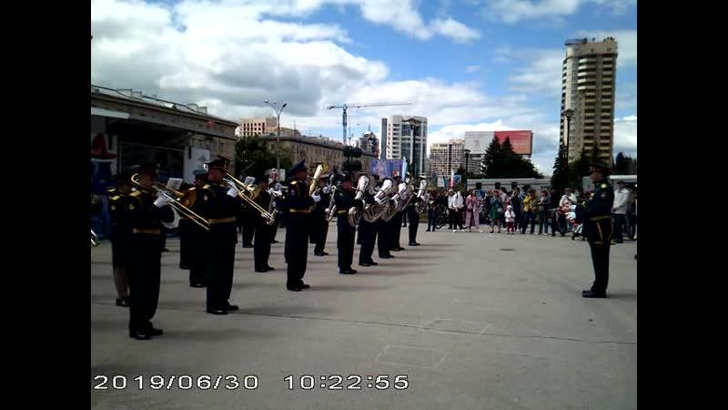 Сводный оркестр Сибво Передвижной пункт отбора службы по контракту в Новосибирске