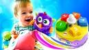 Spielzeugvideo für Kinder - Der Spielzeugkuchen - Lernen die Zahlen und die Formen