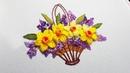 Flower Embroidery: Flowers Daffodils | Вышивка: Цветы Нарциссы
