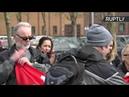 Assange supporters protest outside Belmarsh Prison in London where he is being held in custody