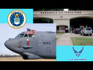 B-52 stratofortress bombers deployed from barksdale air force base land at latvia.