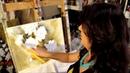 Como pintar rosas - processo completo