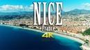 Nice France in 4K Côte d'Azur Nice Aerial