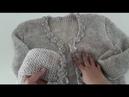 Alize Angora ve İki Farklı Şişle Çeyizlik Hırka Yapımı (38-40 beden)