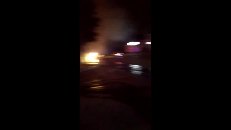 Пожар Троллейная 19\1