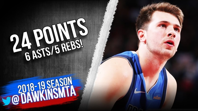 Luka Doncic Full Highlights 2019.03.20 Mavs vs Blazers - 24 Pts, 6 Assists! FreeDawkins