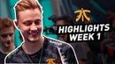 Fnatic Highlights | LEC Summer Split Week 1 (SK Gaming/Misfits)