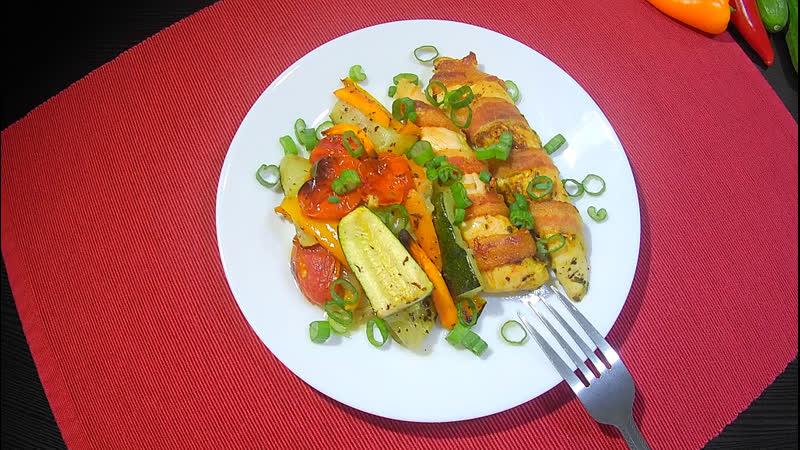 Куриное филе в беконе с овощами❗️ Отличный вариант для вкусного ужина 🤤❗️ youtu.be/wjsuWlsn-go