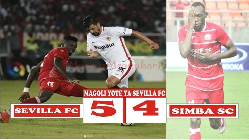 LaLiga World Challenge| Simba SC Vs Sevilla FC| 4-5 Highlights Magoli Yote ya Sevilla FC